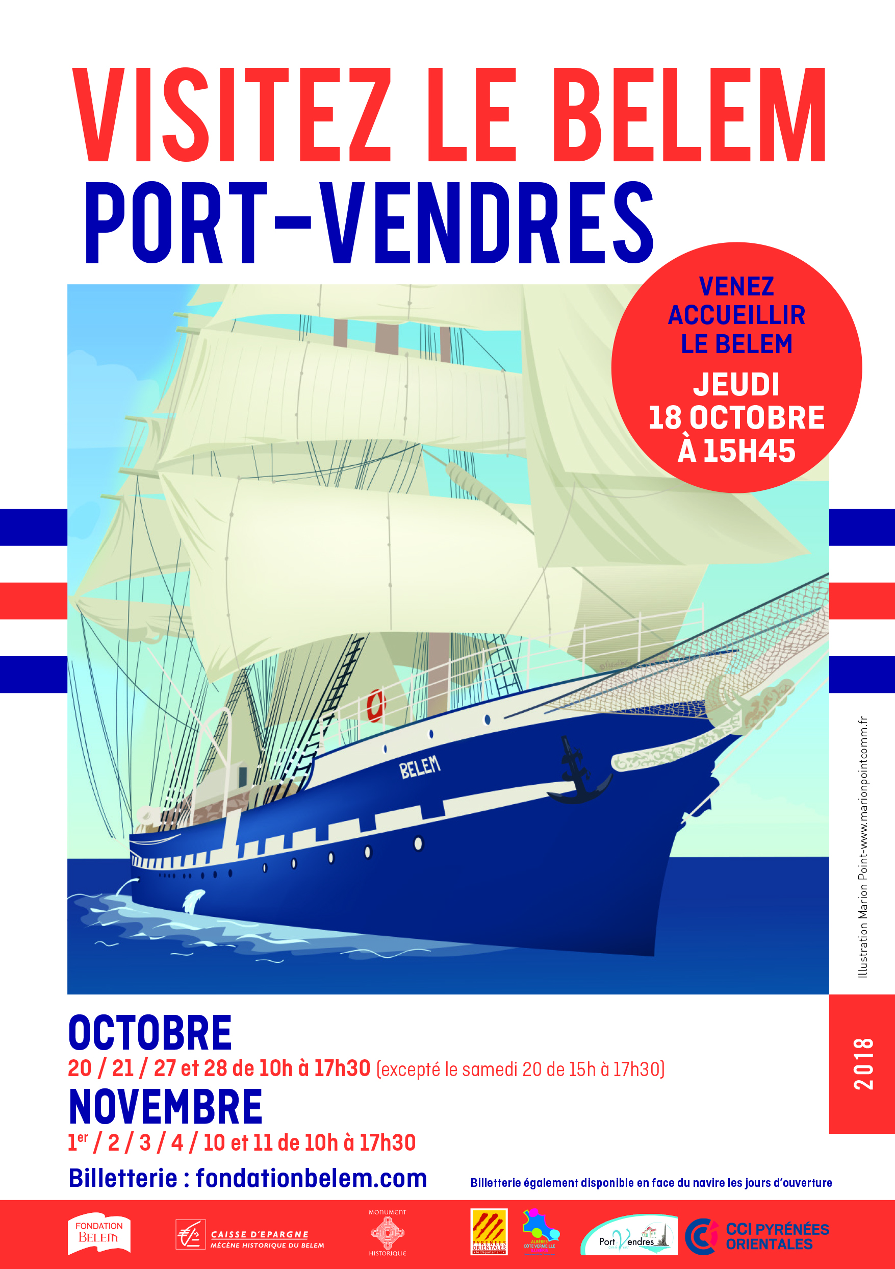 2018 A3 belem Port Vendres HD